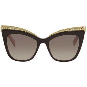 MOSCHINO MOS009/S B3V9O Purple/Brown Sunglasses